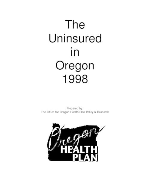 This archived document is maintained by the Oregon State Library as part of the Oregon Documents Depository Program.  It is for informational purposes and may not be suitable for legal purposes., Title from cover, Includes bibliographical references (p. 19), Mode of access: Internet from the Oregon Government Publications Collection.