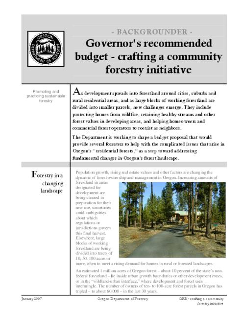 "This archived document is maintained by the Oregon State Library as part of the Oregon Documents Depository Program.  It is for informational purposes and may not be suitable for legal purposes., Title from PDF caption (viewed on Sept. 19, 2007), ""January 2007."", Mode of access: Internet from the Oregon Government Publications Collection."