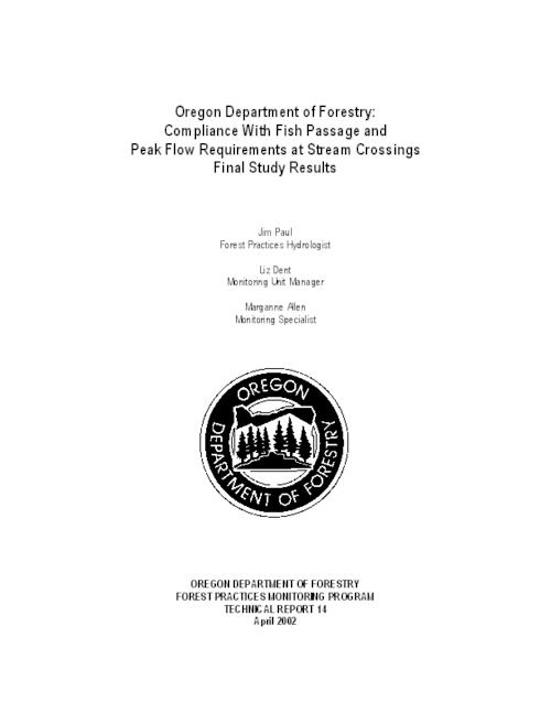 "This archived document is maintained by the Oregon State Library as part of the Oregon Documents Depository Program.  It is for informational purposes and may not be suitable for legal purposes., Title from PDF title page (viewed on Mar. 8, 2009), ""April 2002."", Includes bibliographical references (p. 30-31), Mode of access: Internet from the Oregon Government Publications Collection."
