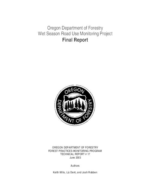 "This archived document is maintained by the Oregon State Library as part of the Oregon Documents Depository Program.  It is for informational purposes and may not be suitable for legal purposes., Title from PDF title page (viewed on Jan. 27, 2009), ""June 2003."", Includes bibliographical references (p. 26), Mode of access: Internet from the Oregon Government Publications Collection., Final report"