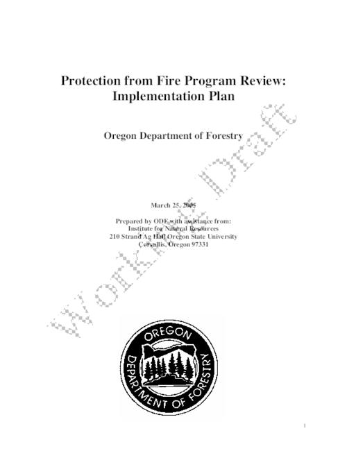 "This archived document is maintained by the Oregon State Library as part of the Oregon Documents Depository Program.  It is for informational purposes and may not be suitable for legal purposes., Title from PDF title page (viewed on Feb. 16, 2010), ""March 25, 2005."", ""Working draft."", Mode of access: Internet from the Oregon Government Publications Collection."