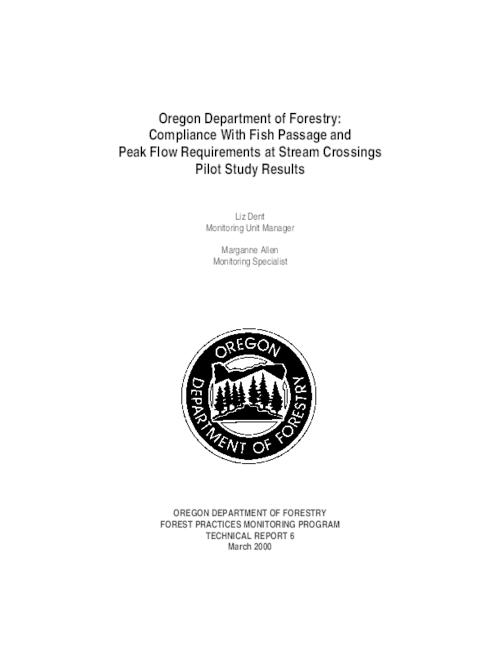 "This archived document is maintained by the Oregon State Library as part of the Oregon Documents Depository Program.  It is for informational purposes and may not be suitable for legal purposes., Title from PDF title page (viewed on Sept. 27, 2012), ""March 2000."", Includes bibliographical references, Mode of access: Internet from the Oregon Government Publications Collection."