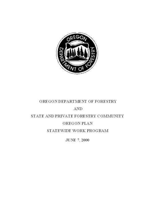 "This archived document is maintained by the Oregon State Library as part of the Oregon Documents Depository Program.  It is for informational purposes and may not be suitable for legal purposes., Title from PDF title page (viewed on Jan. 27, 2010), ""June 7, 2000, Includes bibliographical references (p. 96), Mode of access: Internet from the Oregon Government Publications Collection."
