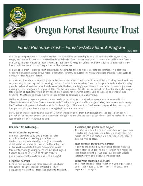 "This archived document is maintained by the Oregon State Library as part of the Oregon Documents Depository Program.  It is for informational purposes and may not be suitable for legal purposes., Title from PDF caption (viewed on Apr. 29, 2010), ""March 2009."", Mode of access: Internet from the Oregon Government Publications Collection."