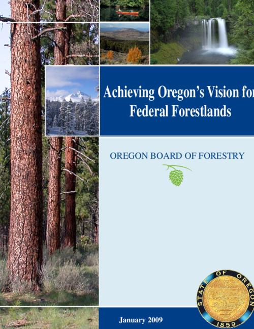 "This archived document is maintained by the Oregon State Library as part of the Oregon Documents Depository Program.  It is for informational purposes and may not be suitable for legal purposes., OrDocs shipping list 2009-15, ""January 2009."", Recommendations developed by the Federal Forestlands Advisory Committee (FFAC), Includes bibliographical references (p. 54-57), Mode of access: Internet from the Oregon Government Publications Collection."