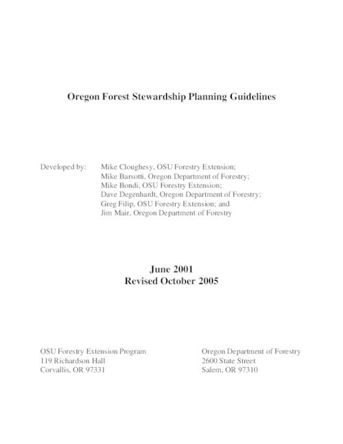 "This archived document is maintained by the Oregon State Library as part of the Oregon Documents Depository Program.  It is for informational purposes and may not be suitable for legal purposes., Title from PDF cover (viewed on Dec. 28, 2012), ""June 2001, revised October 2005."", Includes bibliographical references, Mode of access: Internet from the Oregon Government Publications Collection."