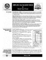 2009-2011 backgrounder, Elliott State Forest, 2009-2011, Elliott State Forest,...