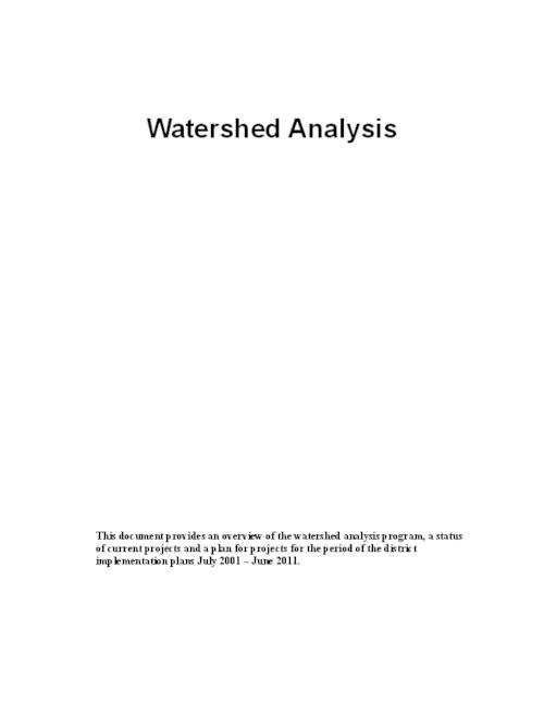 "This archived document is maintained by the Oregon State Library as part of the Oregon Documents Depository Program.  It is for informational purposes and may not be suitable for legal purposes., Title from PDF cover (viewed on Nov. 29, 2013), ""March 2003""--Running footer, ""The state forest watershed analysis program was implemented after the Board of Forestry adopted the Northwest Oregon and Southwest Oregon State Forests Management Plans (FMPs) in January 2001.""-- p. 1, Mode of access: Internet from the Oregon Government Publications Collection."