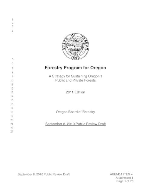 "This archived document is maintained by the Oregon State Library as part of the Oregon Documents Depository Program.  It is for informational purposes and may not be suitable for legal purposes., Title from PDF caption (viewed on Sept. 24, 2010), ""September 8, 2010 Public Review Draft""--Running footer, Includes bibliographical references (p. 63-65), Mode of access: Internet from the Oregon Government Publications Collection."
