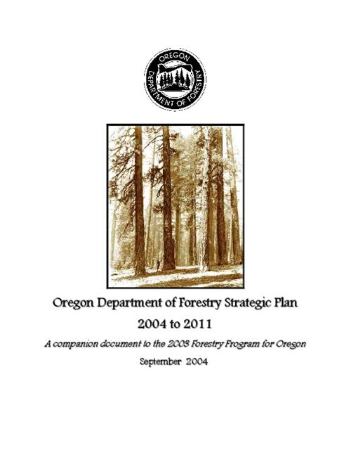 "This archived document is maintained by the Oregon State Library as part of the Oregon Documents Depository Program.  It is for informational purposes and may not be suitable for legal purposes., ""A companion document to the 2003 Forestry program for Oregon."", ""September 2004."", OrDocs shipping list 2005-01, Mode of access: Internet from the Oregon Government Publications Collection."
