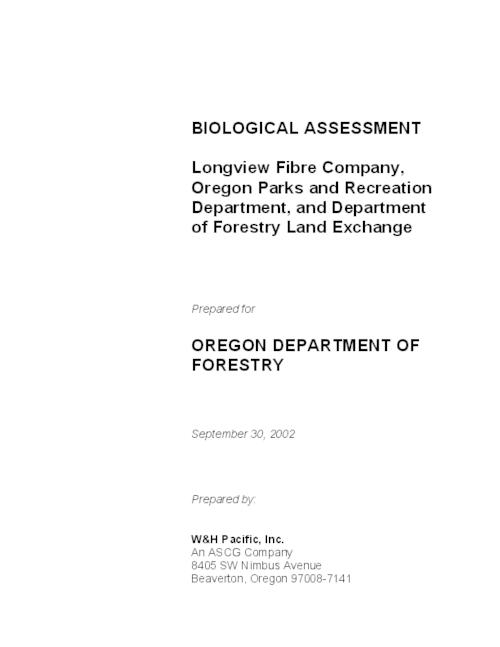 "This archived document is maintained by the Oregon State Library as part of the Oregon Documents Depository Program.  It is for informational purposes and may not be suitable for legal purposes., Title from cover, ""September 30, 2002."", OrDocs shipping list 2003-11, Includes bibliographical references (p. 62-64), Mode of access: Internet from the Oregon Government Publications Collection."