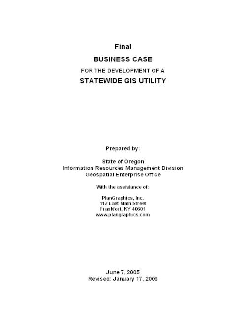 "This archived document is maintained by the Oregon State Library as part of the Oregon Documents Depository Program.  It is for informational purposes and may not be suitable for legal purposes., Title from PDF title page (viewed on Mar. 9, 2007), ""June 7, 2005."", ""Revised: January 17, 2006."", Mode of access: Internet from the Oregon Government Publications Collection."