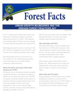 Urban growth boundaries and the Oregon Forest Practices Act