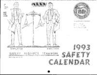 1993 safety calendar, Safety calendar