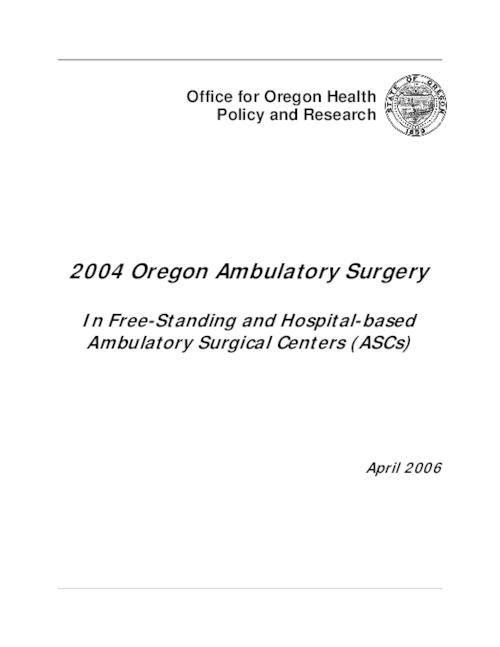 "This archived document is maintained by the Oregon State Library as part of the Oregon Documents Depository Program.  It is for informational purposes and may not be suitable for legal purposes., Title from PDF title page (viewed on Nov. 10, 2008), ""April 2006""--Cover, Mode of access: Internet from the Oregon Government Publications Collection."