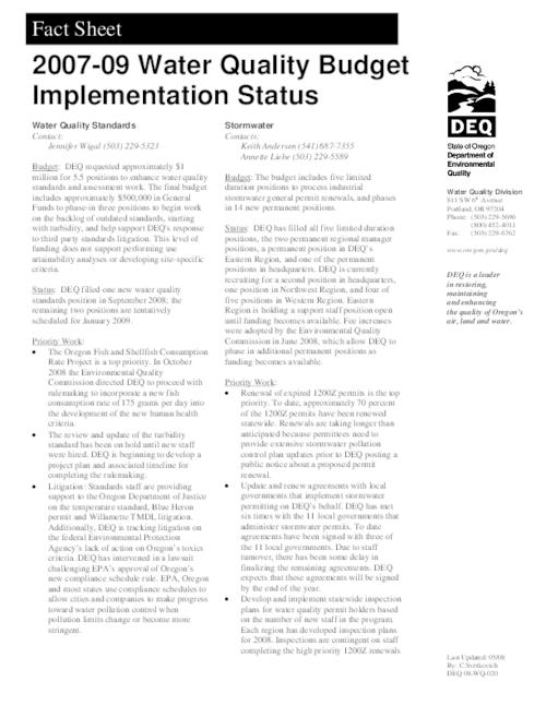 "This archived document is maintained by the Oregon State Library as part of the Oregon Documents Depository Program.  It is for informational purposes and may not be suitable for legal purposes., Title from PDF caption (viewed on Oct. 11, 2011), ""Last Updated: 05/08."", ""DEQ 08-WQ-020."", Mode of access: Internet from the Oregon Government Publications Collection."