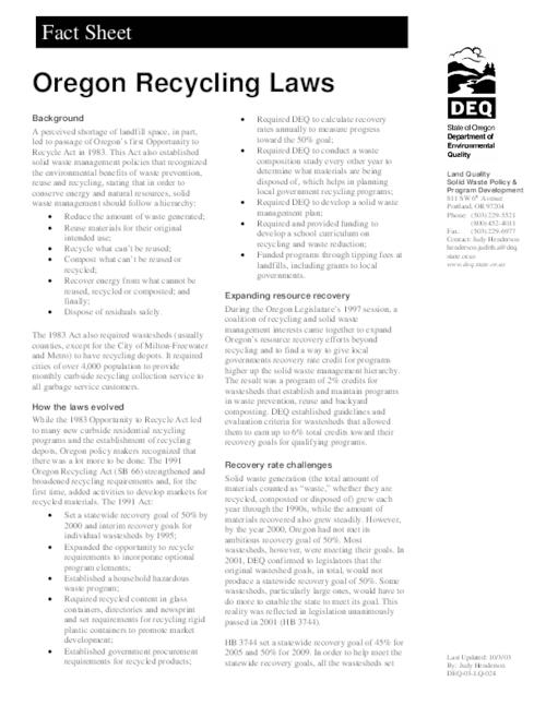 "This archived document is maintained by the Oregon State Library as part of the Oregon Documents Depository Program.  It is for informational purposes and may not be suitable for legal purposes., Title from PDF caption (viewed on Jan. 31, 2012), ""Last Updated: 10/3/03."", ""DEQ-03-LQ-024."", Mode of access: Internet from the Oregon Government Publications Collection."