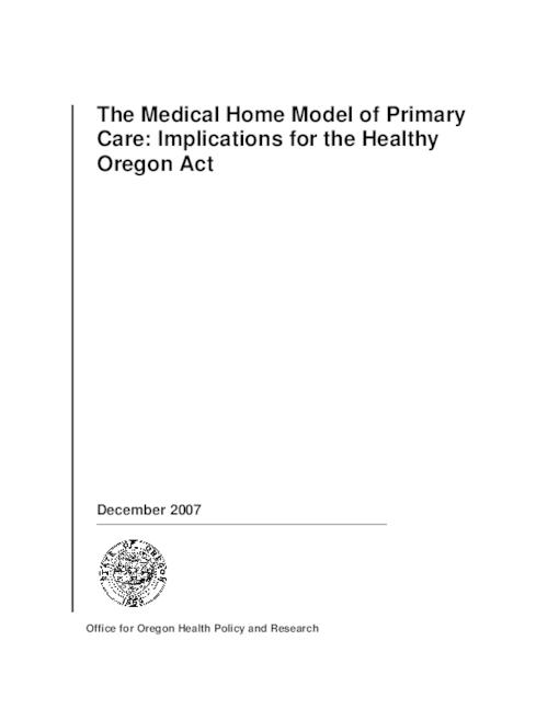 "This archived document is maintained by the Oregon State Library as part of the Oregon Documents Depository Program.  It is for informational purposes and may not be suitable for legal purposes., Title from PDF title page (viewed on Mar. 16, 2010), ""December 2007."", Includes bibliographical references, Mode of access: Internet from the Oregon Government Publications Collection."
