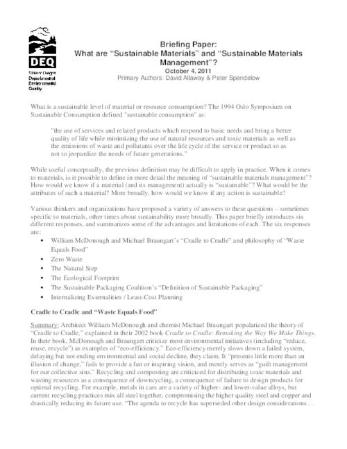 Briefing paper : what are \