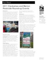 2011 Clackamas and Marion pesticide round-up events