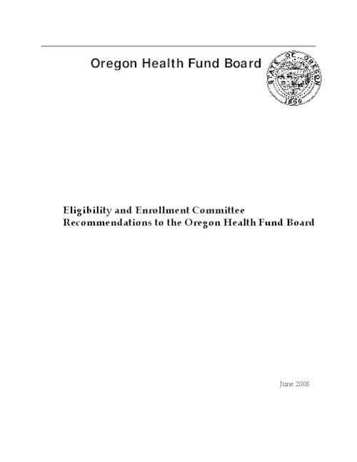 "This archived document is maintained by the Oregon State Library as part of the Oregon Documents Depository Program.  It is for informational purposes and may not be suitable for legal purposes., Title from PDF title page (viewed on Nov. 22, 2010), ""June 2008."", Mode of access: Internet from the Oregon Government Publications Collection."