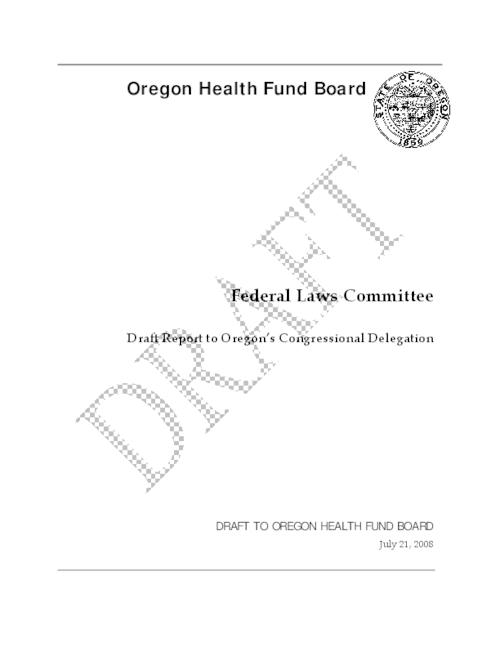 This archived document is maintained by the Oregon State Library as part of the Oregon Documents Depository Program.  It is for informational purposes and may not be suitable for legal purposes., Title from PDF title page (viewed on Nov. 22, 2010), Includes bibliographical references, Mode of access: Internet from the Oregon Government Publications Collection.