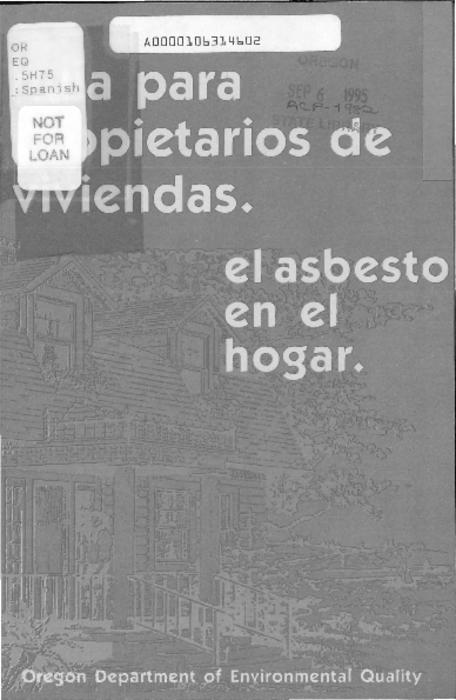 "This archived document is maintained by the Oregon State Library as part of the Oregon Documents Depository Program.  It is for informational purposes and may not be suitable for legal purposes., Title from cover, ""1/95""--P. [4] of cover, Mode of access: Internet from the Oregon Government Publications Collection., Text in Spanish"