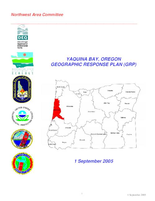 This archived document is maintained by the Oregon State Library as part of the Oregon Documents Depository Program.  It is for informational purposes and may not be suitable for legal purposes., Title from PDF cover (viewed on September 24, 2015)., Plan contributors include: Port of Newport, NOAA, Department of the Interior, USFWS, United States Coast Guard, Oregon Department of Environmental Quality, Oregon Department of Fish and Wildlife, Oregon State Service Center for Geographic Information Systems., Mode of access: Internet from the Oregon Government Publications Collection., Text in English.