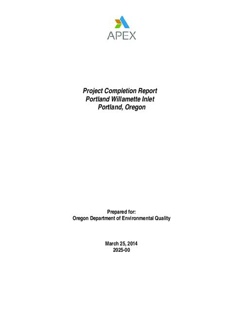 Project Completion Report Portland Willamette Inlet Portland