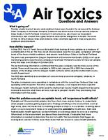 Air toxics: questions and answers