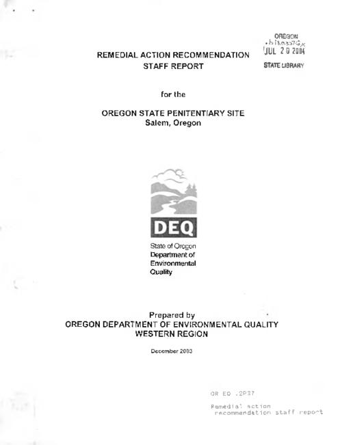 "This archived document is maintained by the Oregon State Library as part of the Oregon Documents Depository Program.  It is for informational purposes and may not be suitable for legal purposes., Title from cover, ""December 2003."", Mode of access: Internet from the Oregon Government Publications Collection."
