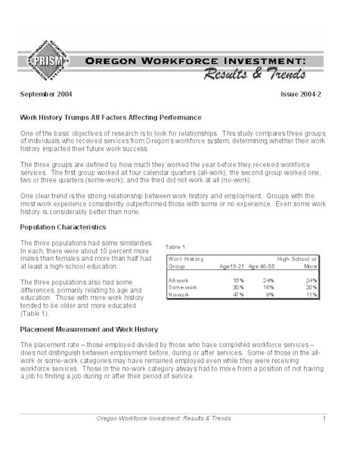 "This archived document is maintained by the Oregon State Library as part of the Oregon Documents Depository Program.  It is for informational purposes and may not be suitable for legal purposes., Title from PDF caption (viewed on June 9, 2010), ""September 2004."", Mode of access: Internet from the Oregon Government Publications Collection."