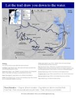 Let the trail draw you down to the water, Reserve trail map