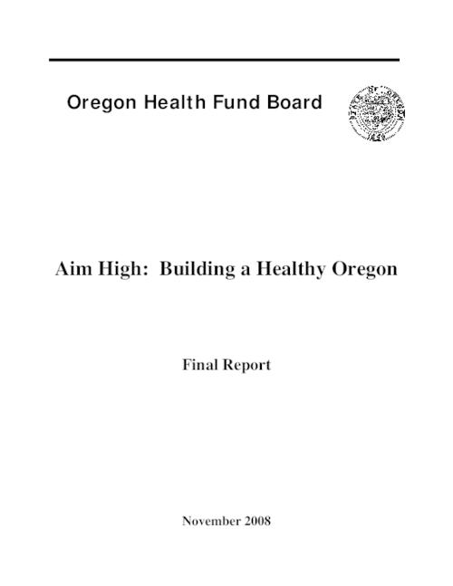 "This archived document is maintained by the Oregon State Library as part of the Oregon Documents Depository Program.  It is for informational purposes and may not be suitable for legal purposes., Title from title page, ""November 2008."", OrDocs shipping list 2009-12, Electronic version has a different cover page, Includes bibliographical references, Mode of access: Internet from the Oregon Government Publications Collection., Final report"