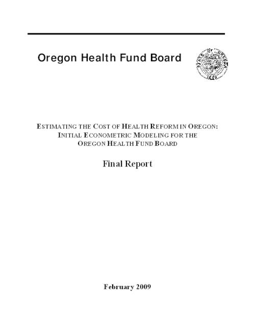"This archived document is maintained by the Oregon State Library as part of the Oregon Documents Depository Program.  It is for informational purposes and may not be suitable for legal purposes., Title from PDF caption (viewed on June 13, 2011), ""February 2009."", Mode of access: Internet from the Oregon Government Publications Collection."