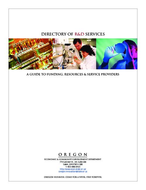 This archived document is maintained by the Oregon State Library as part of the Oregon Documents Depository Program.  It is for informational purposes and may not be suitable for legal purposes., Title from PDF title page (viewed on Nov. 16, 2006), Mode of access: Internet from the Oregon Government Publications Collection.