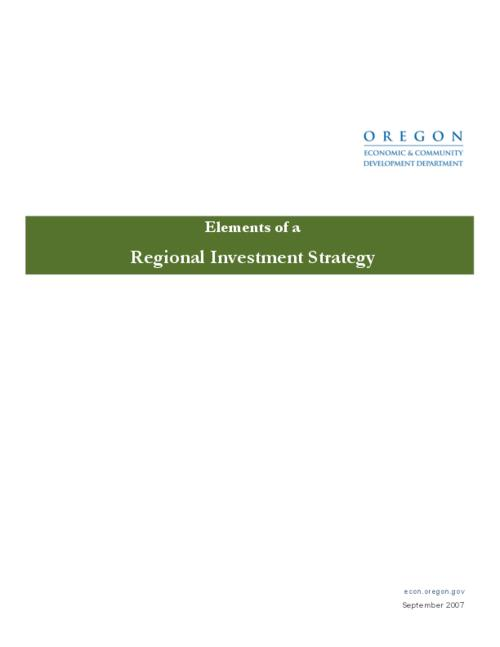 "This archived document is maintained by the Oregon State Library as part of the Oregon Documents Depository Program.  It is for informational purposes and may not be suitable for legal purposes., Title from PDF title page (viewed on Sept. 4, 2009), ""September 2007."", Mode of access: Internet from the Oregon Government Publications Collection."