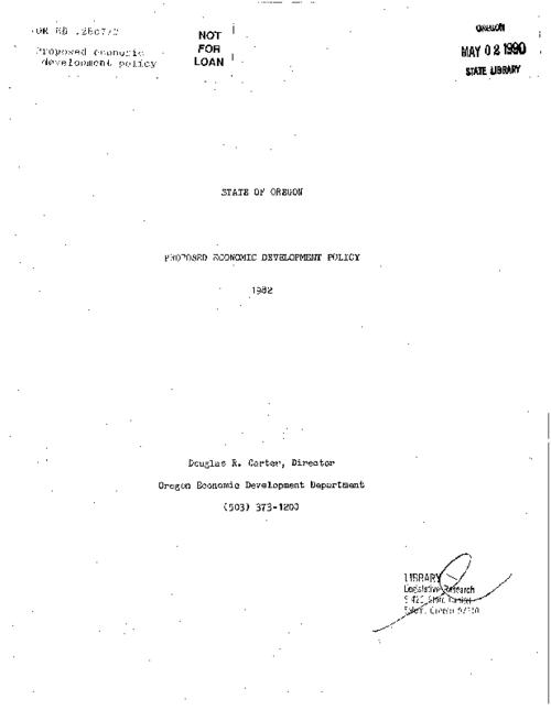 This archived document is maintained by the Oregon State Library as part of the Oregon Documents Depository Program.  It is for informational purposes and may not be suitable for legal purposes., At head of title: State of Oregon, Title from cover, Mode of access: Internet from the Oregon Government Publications Collection.