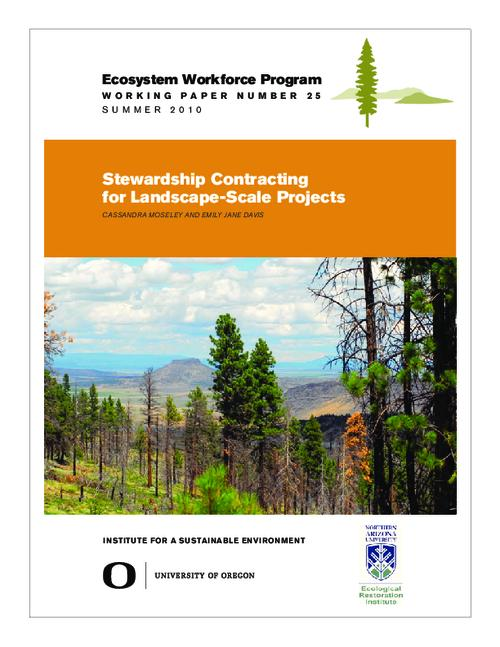 This archived document is maintained by the Oregon State Library as part of the Oregon Documents Depository Program.  It is for informational purposes and may not be suitable for legal purposes., Title from PDF cover (viewed on June 13, 2014), Includes bibliographical references (page 20), This working paper was made possible with funding from the Ecological Restoration Institute at Northern Arizona University and the USDA Forest Service, Mode of access: Internet from the Oregon Government Publications Collection., Text in English