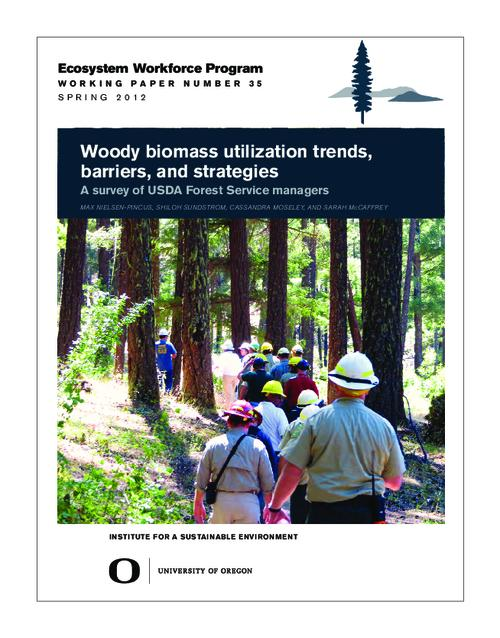 This archived document is maintained by the Oregon State Library as part of the Oregon Documents Depository Program.  It is for informational purposes and may not be suitable for legal purposes., Title from PDF cover (viewed on May 27, 2014), Includes bibliographical references (page 8), This study was made possible with funding from the USDA Forest Service's Northern Research Station and the Ford Foundation, Mode of access: Internet from the Oregon Government Publications Collection.