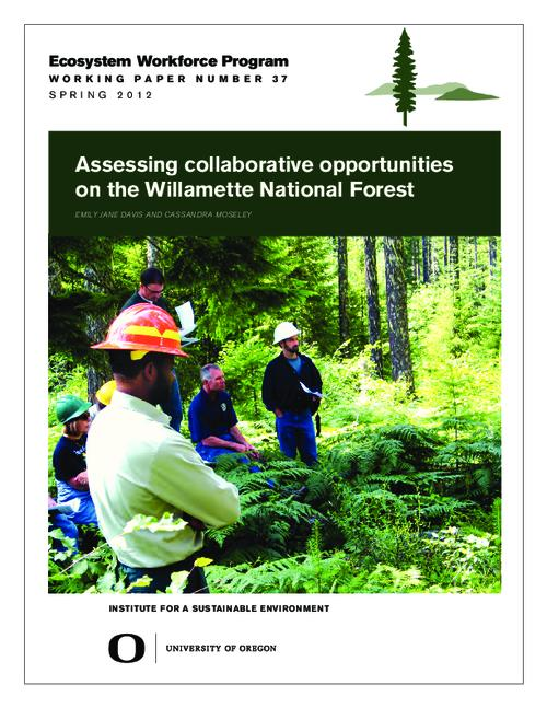 This archived document is maintained by the Oregon State Library as part of the Oregon Documents Depository Program.  It is for informational purposes and may not be suitable for legal purposes., Title from PDF cover (viewed on May 30, 2014), Includes bibliographical references (page 20), This study was made possible by funding from the Willamette National Forest agreement FS #11-CR-11061800-008, Mode of access: Internet from the Oregon Government Publications Collection., Text in English