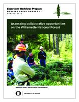 Assessing collaborative opportunities on the Willamette National Forest