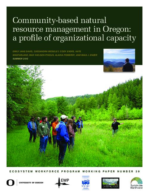 This archived document is maintained by the Oregon State Library as part of the Oregon Documents Depository Program.  It is for informational purposes and may not be suitable for legal purposes., Title from PDF cover (viewed on March 14, 2014), Includes bibliographical references (page 17), This study was made possible with funding from the US Endowment for Forestry and Communities and USDA Rural Development, Mode of access: Internet from the Oregon Government Publications Collection.