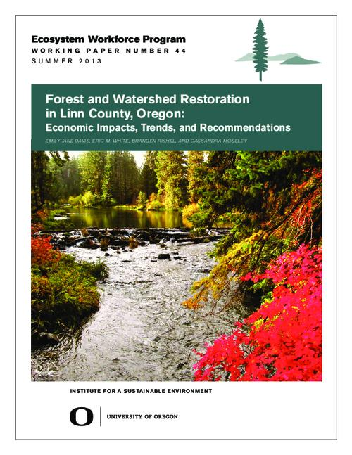 This archived document is maintained by the Oregon State Library as part of the Oregon Documents Depository Program.  It is for informational purposes and may not be suitable for legal purposes., Title from PDF cover (viewed on July 8, 2015)., Includes bibliographical references (page 24)., The National Forest Foundation provided support for this project through a Community Capacity and Land Stewardship grant, Mode of access: Internet from the Oregon Government Publications Collection., Text in English.