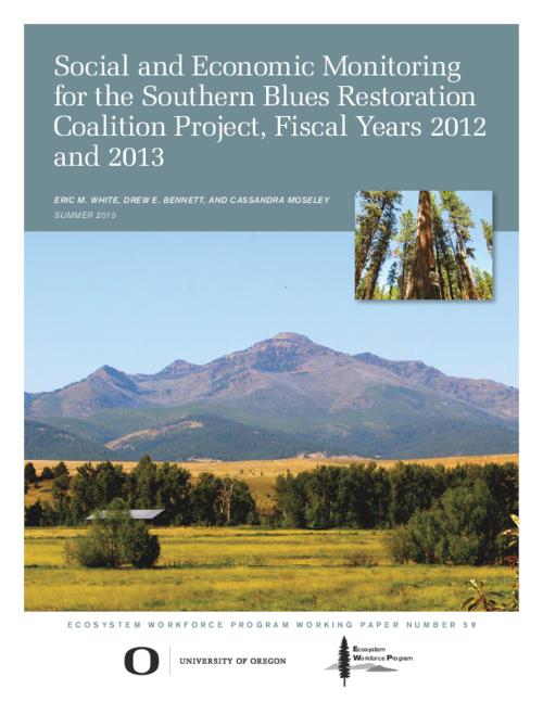 This archived document is maintained by the Oregon State Library as part of the Oregon Documents Depository Program.  It is for informational purposes and may not be suitable for legal purposes., Title from PDF cover (viewed on October 15, 2015)., Includes bibliographical references (page 23)., This work was funded via an agreement with Blue Mountains Forest Partners., Mode of access: Internet from the Oregon Government Publications Collection., Text in English.