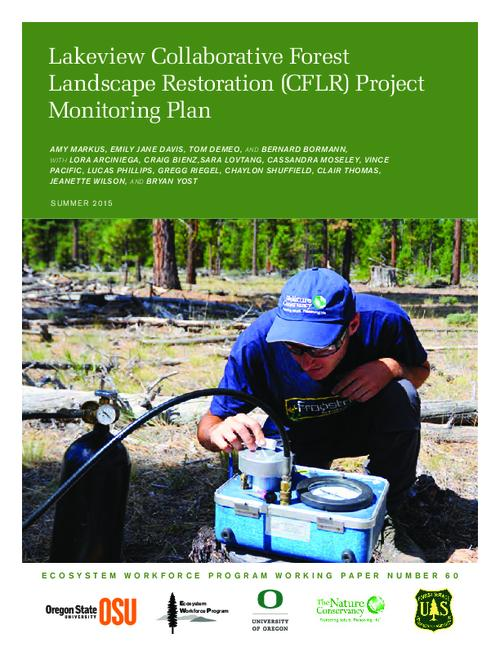 This archived document is maintained by the Oregon State Library as part of the Oregon Documents Depository Program.  It is for informational purposes and may not be suitable for legal purposes., Title from PDF cover (viewed on October 23, 2015)., Includes bibliographical references (pages 50-51)., The development of this monitoring plan was supported by the U.S. Forest Service., Mode of access: Internet from the Oregon Government Publications Collection., Text in English.