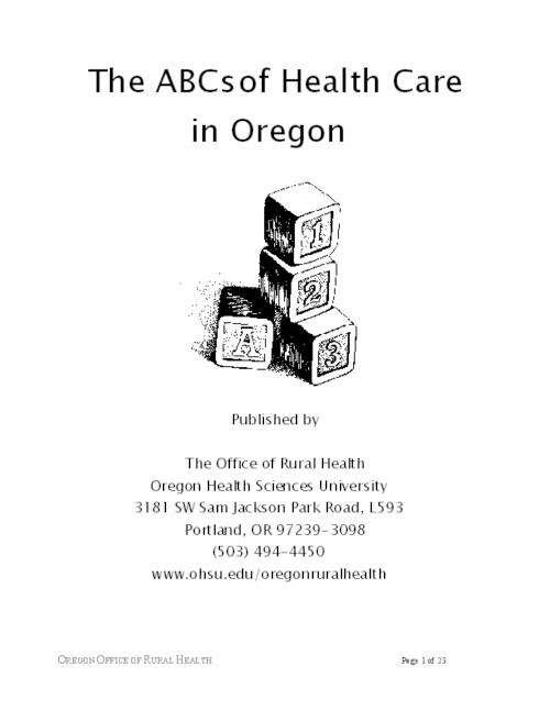 "This archived document is maintained by the Oregon State Library as part of the Oregon Documents Depository Program.  It is for informational purposes and may not be suitable for legal purposes., Title from PDF caption (viewed on June 16, 2011), ""2/5/2003""--P. 23, Mode of access: Internet from the Oregon Government Publications Collection."