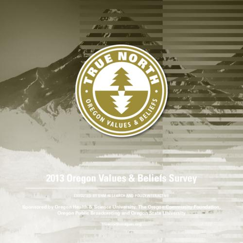 Survey of what Oregonians value and believe, where they stand and where they want Oregon's energies to go, economically, politically, and environmentally, This archived document is maintained by the Oregon State Library as part of the Oregon Documents Depository Program.  It is for informational purposes and may not be suitable for legal purposes., Title from PDF cover (viewed on April 1, 2014), Sponsored by Oregon Health & Science University, The Oregon Community Foundation, Oregon Public Broadcasting and Oregon State University, Mode of access: Internet from the Oregon Government Publications Collection., Text in English