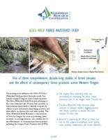 Alsea River paired watershed study