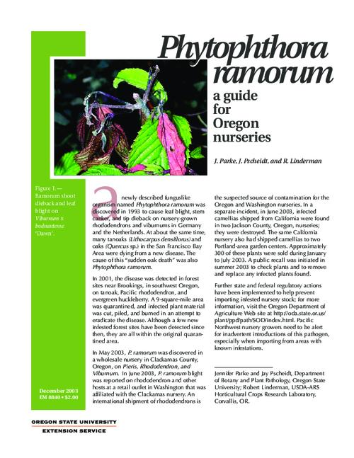 "This archived document is maintained by the Oregon State Library as part of the Oregon Documents Depository Program.  It is for informational purposes and may not be suitable for legal purposes., Title from caption, ""December 2003."", Includes bibliographical references (p. [7]), Mode of access: Internet from the Oregon Government Publications Collection."